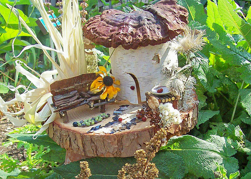 waldorf fairy house